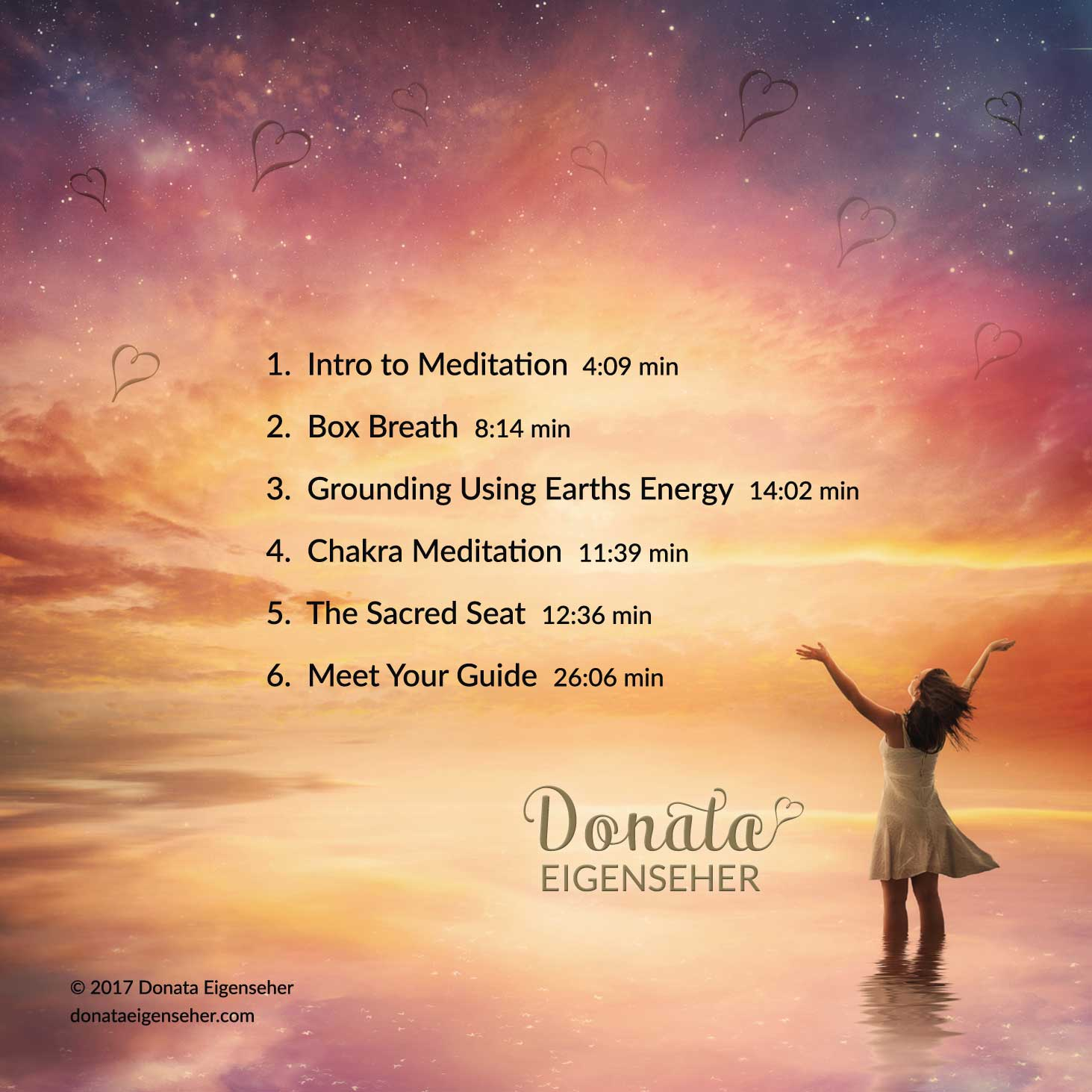 Adult Meditation CD Back Cover